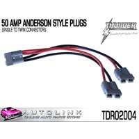 THUNDER 50 AMP ANDERSON STYLE PLUGS - SINGLE TO TWIN PLUGS ( TDR02004 )