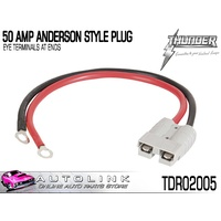 THUNDER 50 AMP ANDERSON STYLE PLUGS - EYE TERMINALS AT END ( TDR02005 )