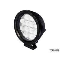 THUNDER 12 LED ROUND SPOT BEAM DRIVING LIGHT 12-24V 8,400 LUMENS TDR08018 x1