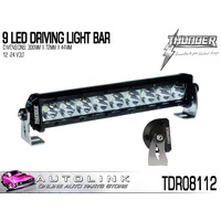 THUNDER 9 LED DRIVING LIGHT BAR WITH BRACKETS 12-24V 300x72x44mm TDR08112