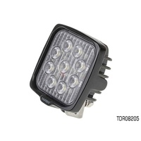THUNDER MULTI VOLT 9 LED SQUARE WORK LIGHT WITH BRACKET - ALLOY BODY TDR08205
