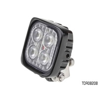THUNDER MULTI VOLT 4 LED SQUARE WORK LIGHT WITH BRACKET - ALLOY BODY TDR08208