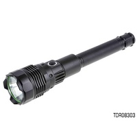 THUNDER 10W LED RECHARGEABLE ALLOY TORCH 800 LUMENS 300m BEAM TDR08303