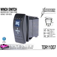 THUNDER WINCH ROCKER SWITCH 20AMP @ 12V MOUNT: 21mm x 37mm TDR11007