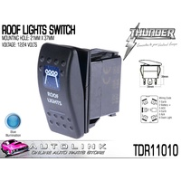 THUNDER ROOF LIGHTS SWITCH (ROCKER) 20AMP @ 12V MOUNT: 21mm x 37mm TDR11010