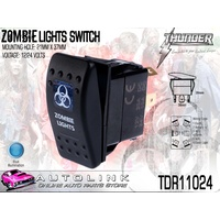 THUNDER ZOMBIE LIGHTS ROCKER SWITCH 20AMP @ 12V MOUNT: 21mm x 37mm TDR11024