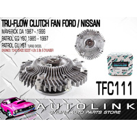 TRU FLOW TFC111 CLUTCH FAN SUIT FORD MAVERICK DA 6cyl 4.2L DIESEL TD42 1988 - 94