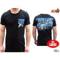 CROW CAMS BLACK T-SHIRT FORD XW GT ARTWORK ON BACK SIZE: LARGE TSG-L