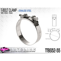 TRIDON T BOLT HOSE CLAMP - ALL STAINLESS STEEL 52 - 55mm TTBS52-55 x1