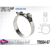 TRIDON T BOLT HOSE CLAMP - ALL STAINLESS STEEL 64 - 67mm TTBS64-67 x1