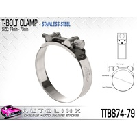 TRIDON T BOLT HOSE CLAMP - ALL STAINLESS STEEL 74 - 79mm TTBS74-79 x1
