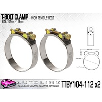 TRIDON T BOLT CLAMPS 104 - 112mm FOR TURBO PIPE & INTERCOOLER TTBY104-112 x2