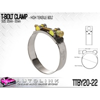 TRIDON T BOLT HOSE CLAMP 20-22mm SUIT TURBO PIPE & INTERCOOLER TTBY20-22  x1