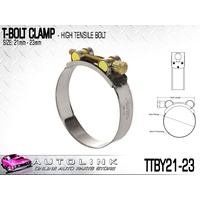 TRIDON T BOLT HOSE CLAMP 21-23mm SUIT TURBO PIPE & INTERCOOLER TTBY21-23  x1