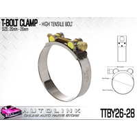 TRIDON T BOLT HOSE CLAMP 26-28mm SUIT TURBO PIPE & INTERCOOLER TTBY26-28 x1