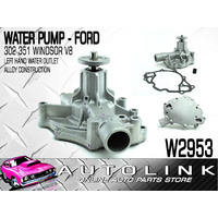 GMB WATER PUMP FOR FORD FAIRLANE ZC ZD 302 351 WINDSOR V8 - LEFT HAND OUTLET