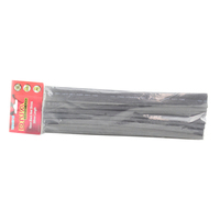 DNA HEAT SHRINK TUBING BLACK 16mm x 300mm LONG - 10 PACK WAH216