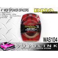 "DNA 4"" ROUND MDF RAW SPEAKER SPACERS 16MM HIGH - PAIR ( WAS104 )"