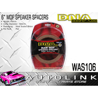 "DNA 6"" ROUND RAW MDF SPEAKER SPACERS 16MM HIGH - PAIR ( WAS106 )"