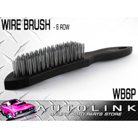 WIRE BRUSH - 6 ROW HARDENED PLASTIC CONSTRUCTION WITH METAL BRISTLES