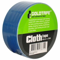 CLOTH / RACE TAPE 48mm x 25 METRE ROLL BLUE 100 MILE / GAFFER TAPE WB7130