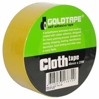 CLOTH / RACE TAPE 48mm x 25 METRE ROLL YELLOW 100 MILE / GAFFER TAPE WB7140