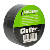 Cloth / Race Tape 48mm x 25 Metre Roll Black 100 Mile / Gaffer Tape WB7170