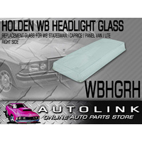 HEADLIGHT REPLACEMENT RH GLASS SUIT HOLDEN WB STATESMAN CAPRICE UTE PANELVAN