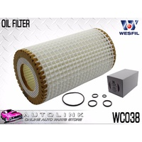 OIL FILTER CARTRIDGE SUIT MERCEDES VIANO 639 3.7L M112 V6 7/2005 - 12/2009 WCO38