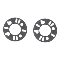 ALUMINIUM WHEEL SPACER FOR 4 & 5 STUD STEEL MAG RIM PAIR 5mm THICK UNIVERSAL