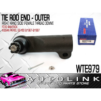 WASP WTE979 TIE ROD END OUTER RIGHT HAND FOR NISSAN PATROL GQ 1987 - 1997 x1