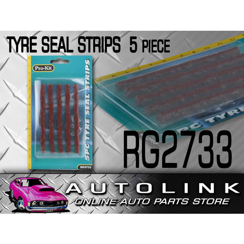 "TYRE TUBELESS SEAL PLUGS REPLACEMENT 5 PACK REPAIRS 4WD 4X4 OFF ROAD 100mm 4"" x1"