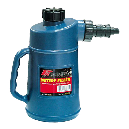 BATTERY FILLER BOTTLE WITH SHUT OFF VALVE FOR ACCURATE NON SPILL USE ( RG5327 )