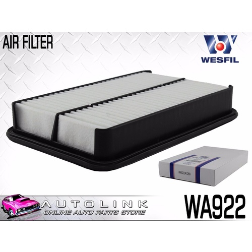 WESFIL AIR FILTER SUIT TOYOTA SPRINTER AE102 1.8L 7A-FE 4CYL 5/1994 - 7/1996